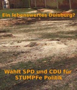 Stumpfe Politik