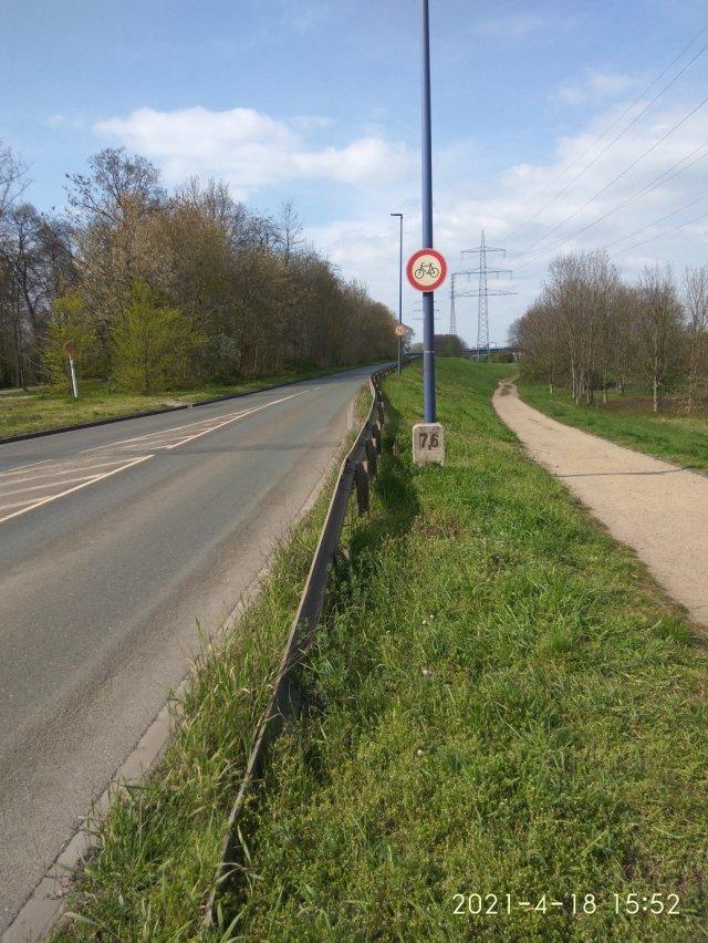Radverkehr ausgesperrt